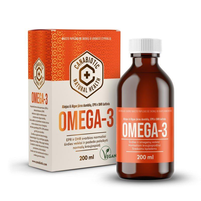 Natūralaus skonio Canabiotic Omega 3