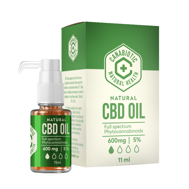 CBD hemp oil Canabiotic 600 mg (5%)
