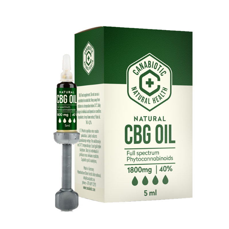 Kanapių CBG aliejus Canabiotic CBG OIL 1800 mg (40%)