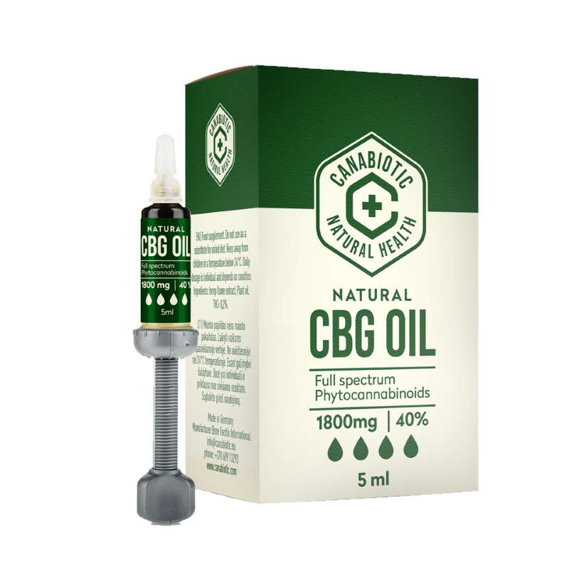 CBG hemp oil Canabiotic 1800 mg (40%)