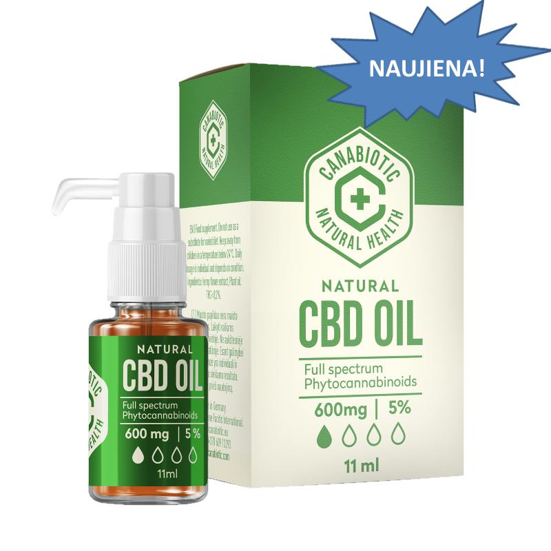 Kanapių CBG aliejus Canabiotic CBG OIL 1800 mg (40%)