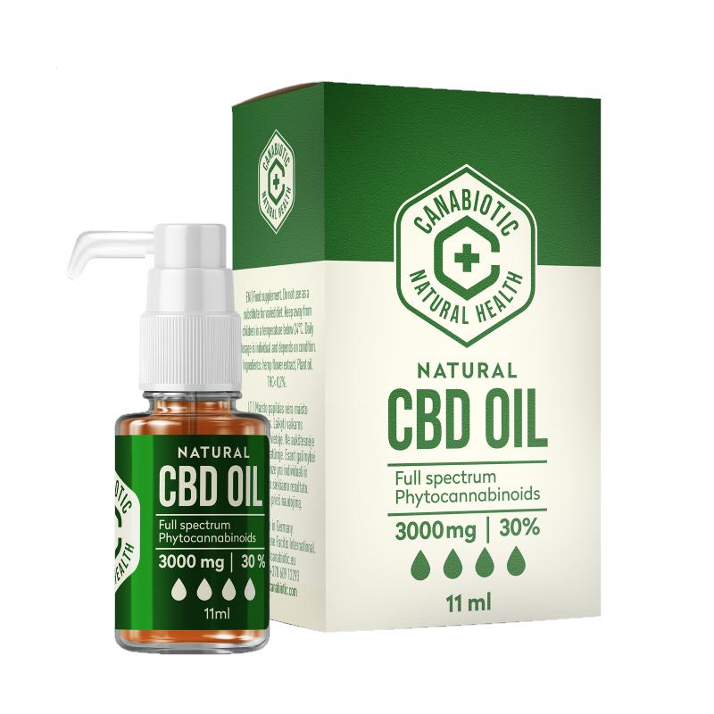 Kanapių CBD aliejus Canabiotic CBD OIL 3000 mg (30%)