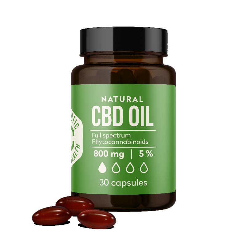 Kanapių CBD aliejus kapsulėse Canabiotic CBD OIL capsules 30 kapsulių 800 mg